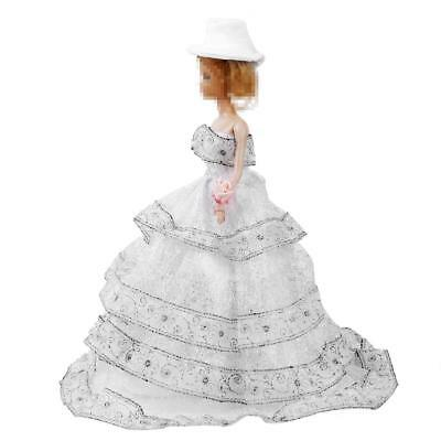Handmade Wedding Princess Party Ball Dress Gown Clothes Hat for Barbie DOLL