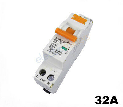 Safety Switch Circuit Breaker Combination RCBO Single Module 32 Amp 4.5kA Rated