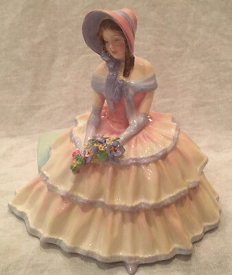 """ROYAL DOULTON """"Day Dreams"""" Figurine (Tiny Chip on Flower)"""