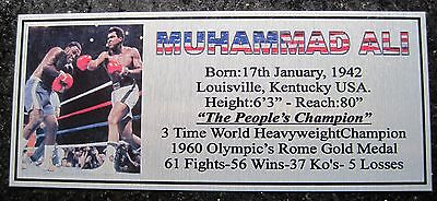 Boxing Muhammad  Ali Photo colour name Free Postage