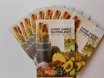 Super Simple Nutriblasts Recipe Book - Magic Bullet Nutribullet - Brand New