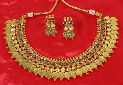 2026 Indian Fashion Jewelry necklace set Bollywood ethnic Gold Tone traditional