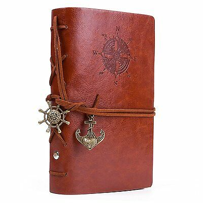 UBaymax Classic Soft PU Leather Embossed Journal Notebook Refillable Vintage for