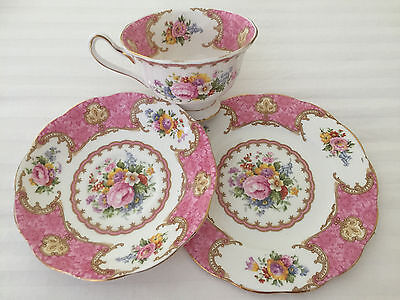 Royal Albert - Lady Carlyle Trio Made in England Reg. No 855022
