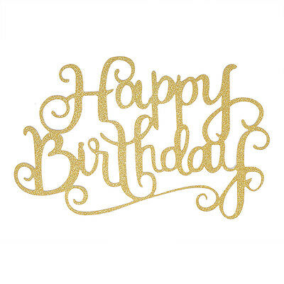 Lovely Hot Happy Birthday Candle Party DIY Gold Cake Topper Supplies Decorations