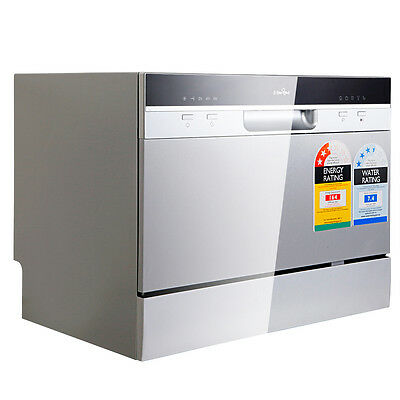 5 Star Chef Electric Benchtop Dishwasher Water & Energy Efficient - Silver
