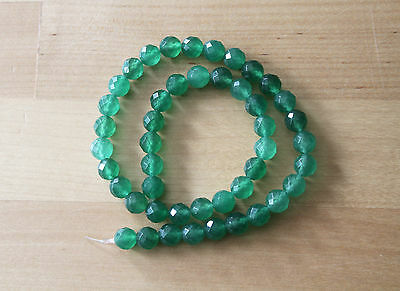 Aventurine (Gemstone) Green Faceted Round Beads 8mm - Full Strand