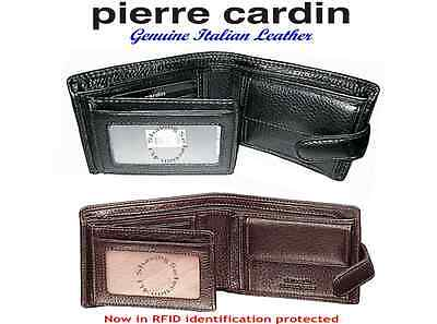 Pierre Cardin - Men's Bi-fold Wallet-Genuine Italian Leather-Black-Brown-PC8874