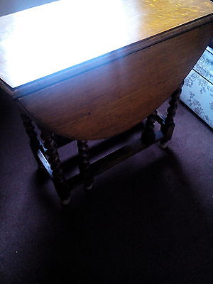 drop leaf table with barley twist legs