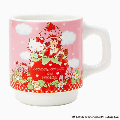 Hello kitty x Strawberry Shortcake Mug cup Limited series From Japan