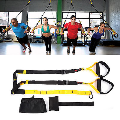 Suspension Trainer Straps Kit-Body Weight GYM Training MMA Workout Crossfit TRX
