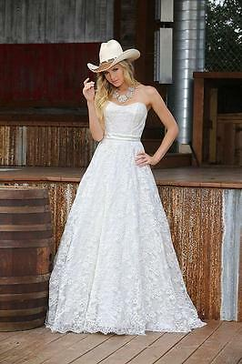 New Lace Strapless Wedding Dress Bridal Gown Custom Size 4 6 8 10 12 14 16 18+
