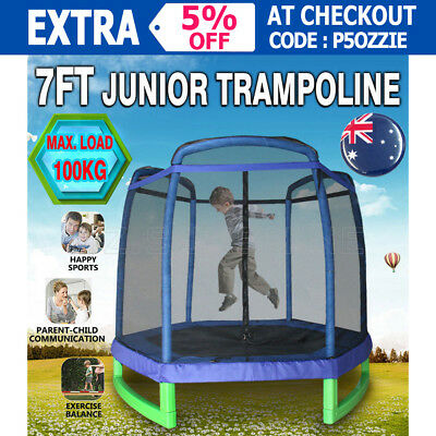 7ft Junior Jumper Trampoline Indoor/Outdoor Fitness Home Exercise Blue AU Stock