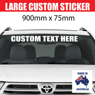 CUSTOM  WINDSCREEN STICKER DECAL Vinyl Film Name Lettering Graphics