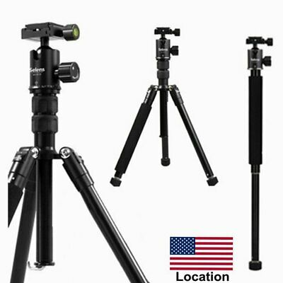 "Selens T-170 Portable 62"" Tripod & Monopod for Digital Camera DSLR Camcorder US"