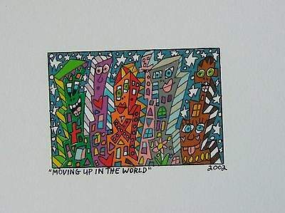 James Rizzi Moving up in the world - Farblithografie