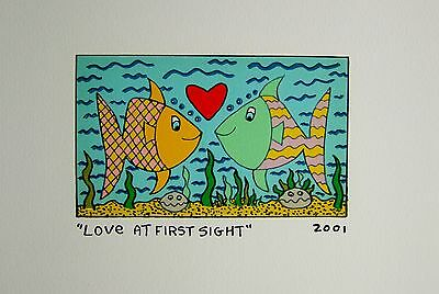 James Rizzi Love at first sight - Farblithografie