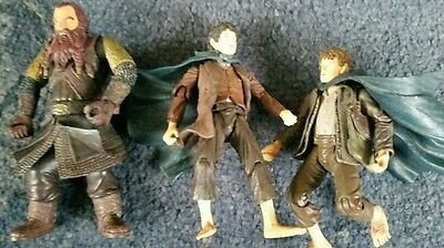 Lord of the rings action figures ghimli sam and frodo