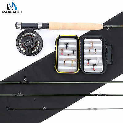 Maxcatch 5WT Fly Fishing Kit 9' 4Sec Fly Rod, Fly Reel, Line, Flies For Beginner