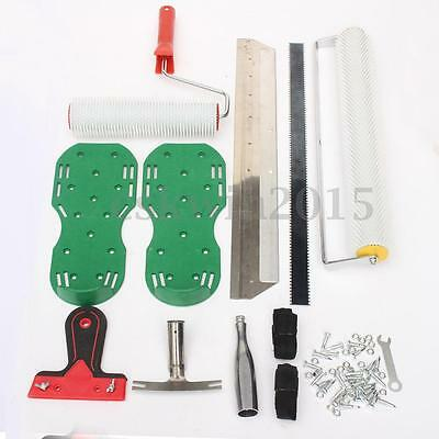 Cement Self-leveling Construction Tool Epoxy Floor Blade Roller Gear Strip Kit