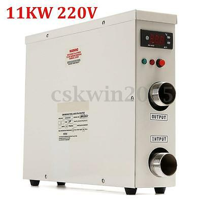 11KW 220V Swimming Pool & Bath SPA Hot Tub Electric Water Heater Thermostat New