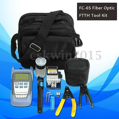 Fiber FTTH OpticTool Set 1mW Visual Finder FC-6S Cleaver Optical Power Meter New