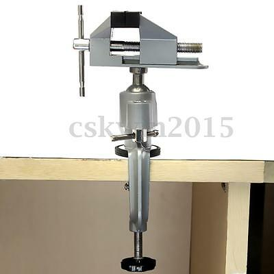Bench Vise Swivel Tabletop Clamp Vice Tilts 360° Universal Aluminum Alloy UK