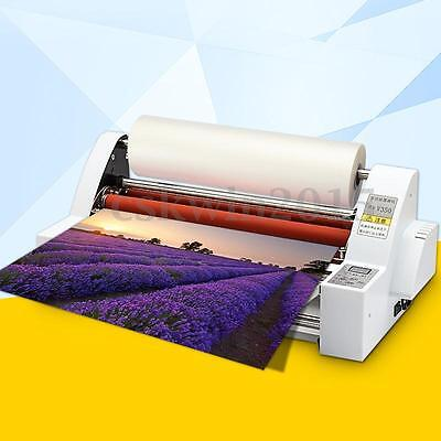 220V 50Hz 13'' Four Rollers Hot and Cold Roll Laminator Laminating Machine Kit