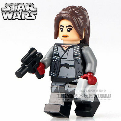 STAR WARS Rogue One Jyn Erso with Weapon Building Blocks Minifigures Toys Gifts