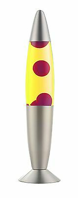 Lava Lamp Magma Light with Red Wax & Yellow Liquid 36cm