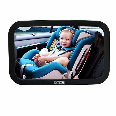 Droiee Mirrors Baby Back Seat Mirror [Shatterproof Glass] the Best Baby Car Rear
