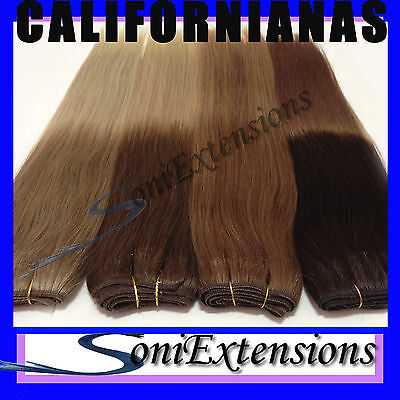 EXTENSIONES MECHA CALIFORNIANAS  Nº4/18 100%NATURAL50gr REMY HINDÚ 50X70ancho