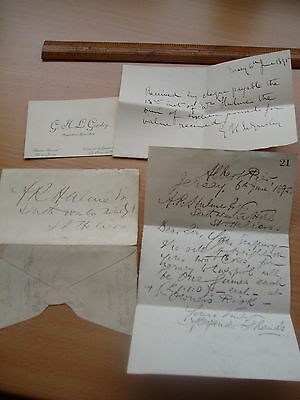 19th CENTURY LETTER JERSEY SALE OF COWS