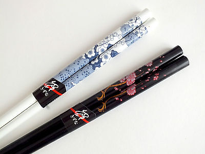 2 Chinese Black Blossom White Chopsticks Japanese Hair Stick New Year Party