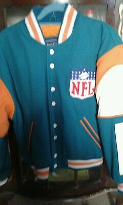 Miami Dolphins NFL Football Jacket RARE xs new with original tags.