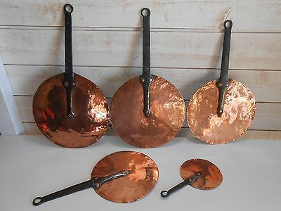 Serie De Couvercles De Casseroles Cuivre Fer Forgé / Copper Lid Of Pan