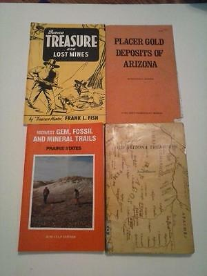 4 Mining Gold Gems Fossil Buried Treasure Vintage Book AZ Midwest  USA