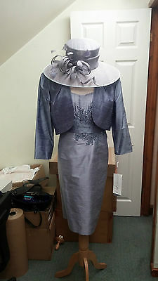Condici Mother of the Bride Amethyst Lilac Size 20 100%Silk BRAND NEW £925