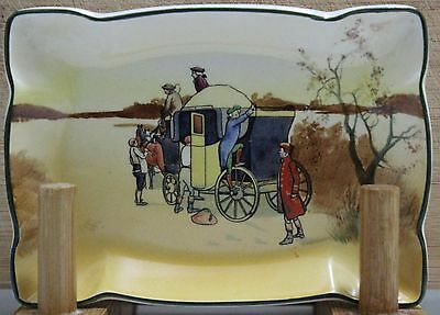 """Royal Doulton SeriesWare - Small biscuit plate - """"Coaching Days"""" - D2716 - Rare."""