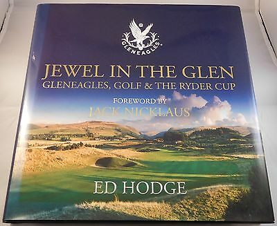 """Colin Montgomery Signed copy of """"Jewel in the Glen"""" + 2 Ryder Cup £5 Notes"""