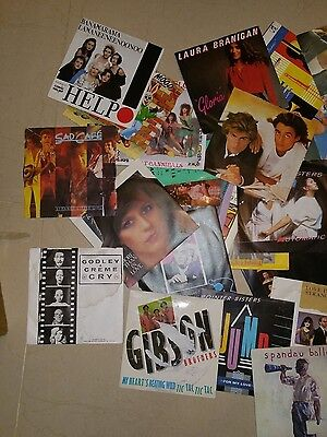 Over 50 Picture Sleeve 7in Vinyl Records Job Lot