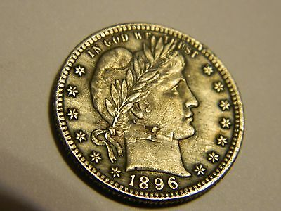 1896/1897 Barber Quarter Two Face Coin-- NR No Reserve INV13