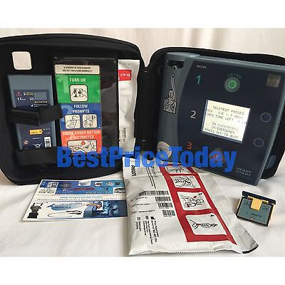 PHILIPS HEARTSTART FR2+ defib AED Battery Pads DP Memory Card Case Free UK Post
