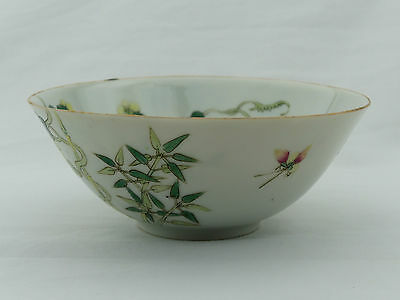 A Chinese porcelain bowl 19th Century. Yongzheng mark.