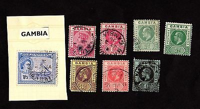 Stamps ~ GAMBIA ~ Unsorted Early MIXED CONDITION