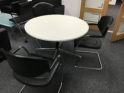 Round meeting table with 3 chairs