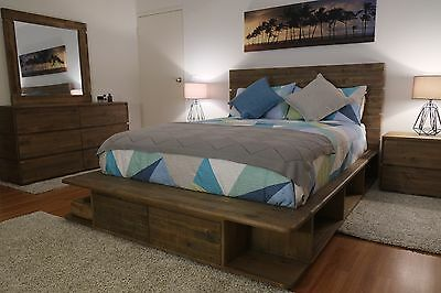 Stunning Reclaimed Timber Portsea Style 4Pc Bed Suite King / Queen - NEW & BOXED