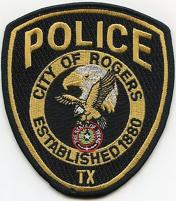 Rogers Texas Tx Police Patch