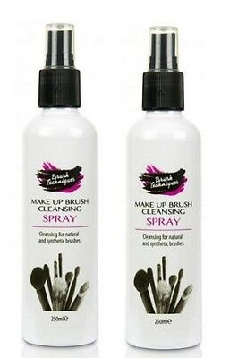 2 X Brush Techniques Make Up Brush Cleansing Spray - Disinfects - 250ML
