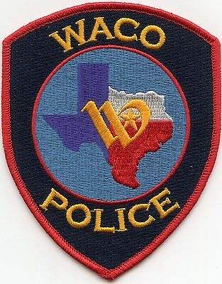 WACO TEXAS TX colorful POLICE PATCH